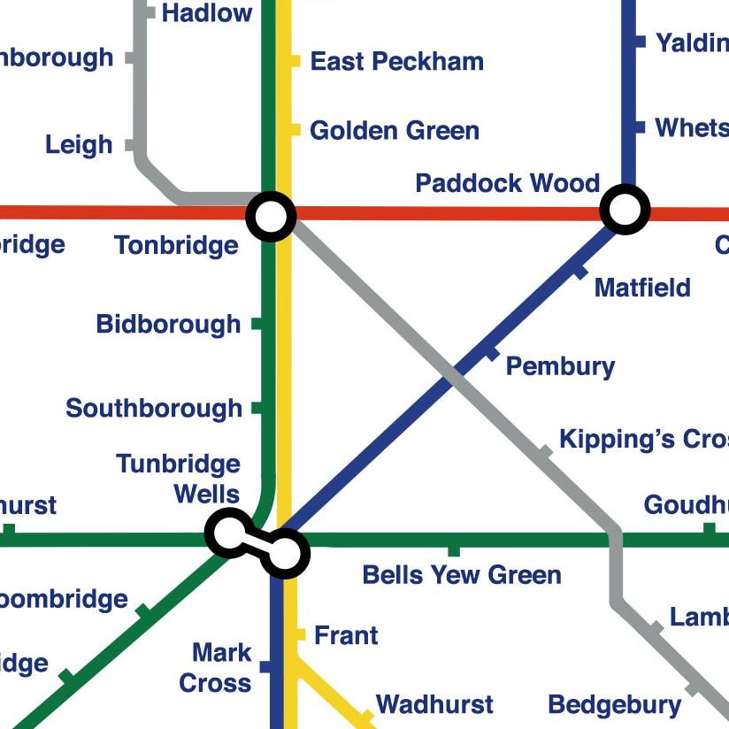 Kent Lines - London Underground pastiche